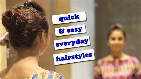 quick easy everyday hairstyles you can wear to work or