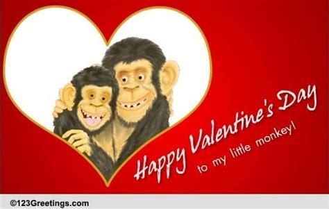 happy valentines day lil monkey  family ecards