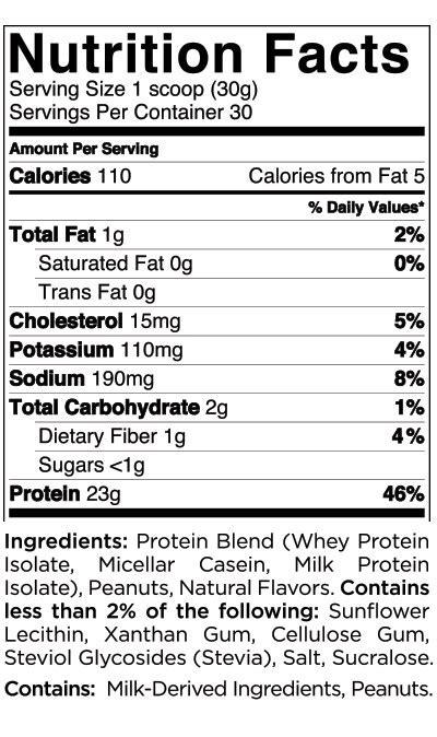 Quest Nutrition Protein Powder - Nutritional Information