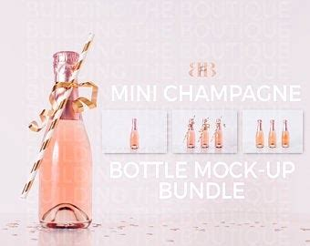 1 · i recently served this at a baby shower where, of course, the expecting mom could not have any alcohol. Mini Champagne Bottle Mock Ups, Pink Champagne Product MockUp, Feminine Styled Stock Photos ...