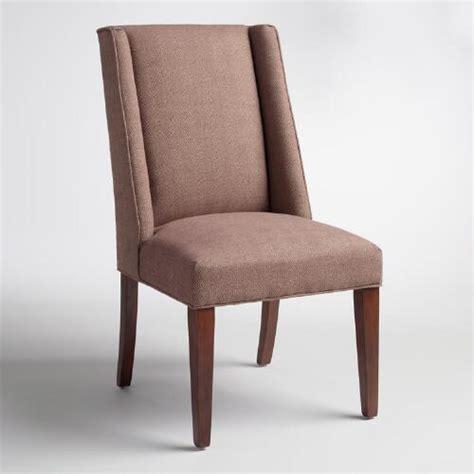 Cocoa Herringbone Lawford Dining Chair  World Market