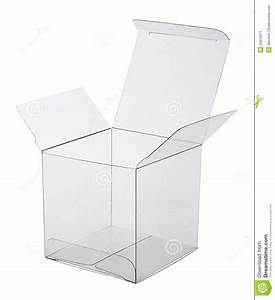 Box of transparent plastic stock image. Image of cube ...