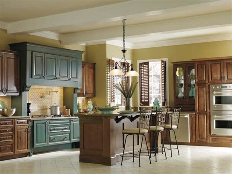 Decora Turquoise Rust Cabinets  Traditional  Kitchen