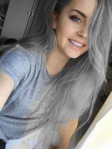 girl, goals, grey hair, hair, indie, pretty, smile, tumblr ...