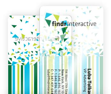 custom plastic business cards clear frosted  opaque