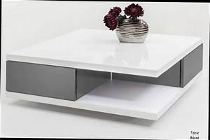 Table Grise Et Blanche : table basse blanche avec rangement table basse design blanche grise laque tiroirs domingo nestis ~ Teatrodelosmanantiales.com Idées de Décoration