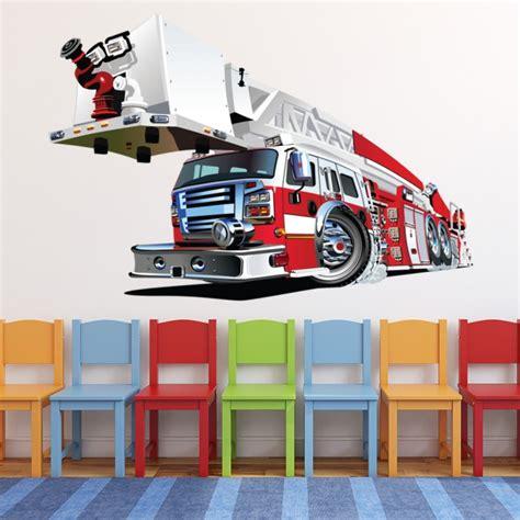 fire truck fire engine wall sticker