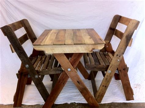 pallet folding chairs  table pallet furniture plans