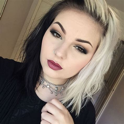 black and white hair color 25 best ideas about half dyed hair on half