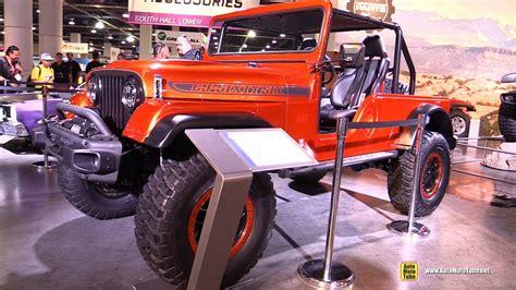 jeep wrangler zubehör 1966 jeep wrangler cj jeep cj66 walkaround sema 2016
