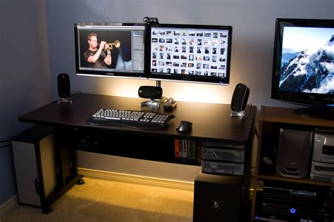 Computer Desks For Two Monitors  Home Ideas