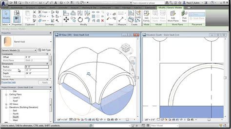 Groin Vault Ceiling Revit revit groin vault roof part 2