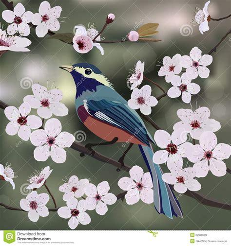 card design bird  flower royalty  stock images