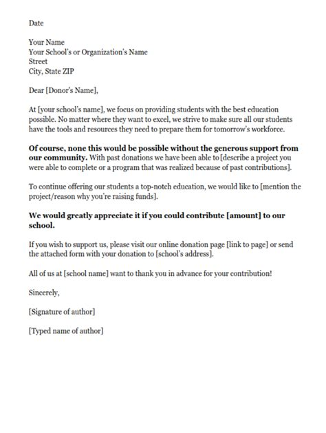 Donation Letter Template Donation Request Letters Asking For Donations Made Easy