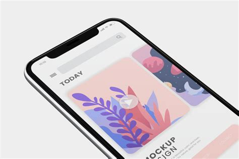 Wrap your design in mobile devices in a few clicks! Mobile phone screen mockup design PSD file   Free Download