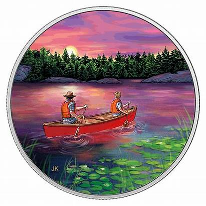 Coin Outdoors Canadian Canoeing Sunset Pure Canada