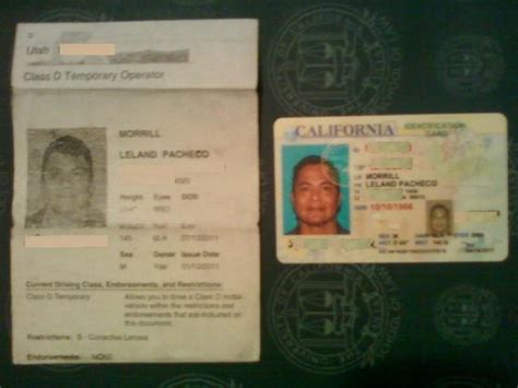 paper id template adopted americans real id act my identity returns