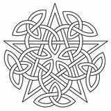 Celtic Mandala Pentacle Patterns Designs Embroidery Coloring Pages Knotwork Knots Knot Pagan Quilt Urbanthreads Paper Unique Pentagram Urban Wiccan Printable sketch template