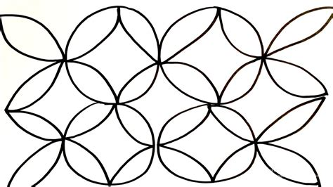 menggambar mewarnai motif batik untuk anak