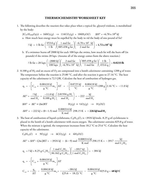 17 Best Images Of Specific Heat Worksheet With Key  Specific Heat Worksheet Answers, Specific
