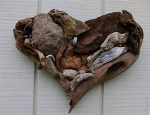 driftwood heart driftwood art wall hanging by With driftwood wall decor