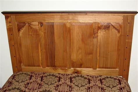 custom raised panel headboard  queen size bed  white