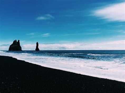 Reynisfjara Black Sand Beach Southern Iceland Oc