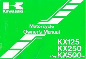 Used Kawasaki 1996 Kx125 250 And 500 Motorcycle Owners Manual