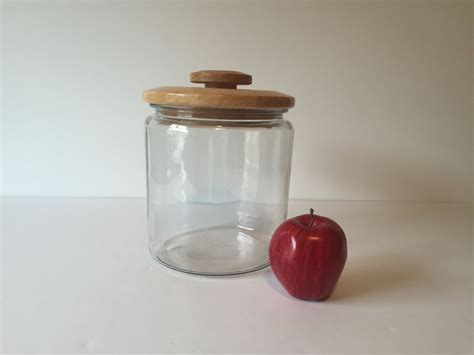 Kitchen Jars Shopping by Vintage Glass Cookie Jar Large Food Storage Container
