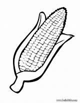 Corn Coloring Thanksgiving Ear Print Tiny Activity Idea Place Kwanzaa sketch template