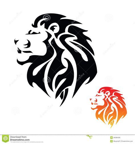 lion head tribal tattoo stock vector illustration  leader
