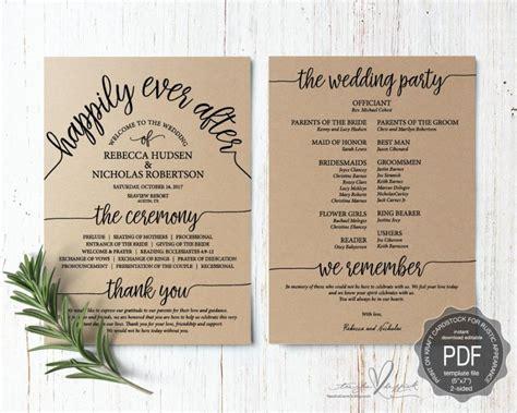 Wedding Program Pdf Card Template, Instant Download Editable Printable, Ceremony Order Card In Elegant Wedding Tumblr Registry Gift Message @home Hipster Veil For Multiple Stores Meme Korean