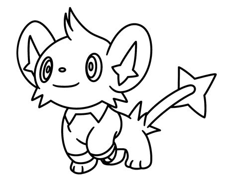 Shinx pokemon character free coloring page o animals kids pokemon coloring pages