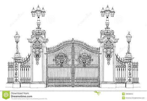 londres collection de croquis porte de palais de