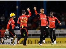 celebration pictures of trinbago knight riders after