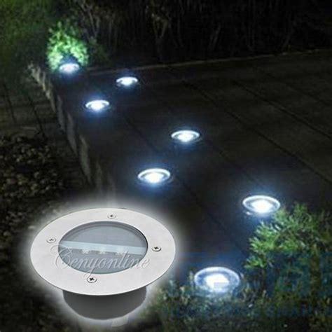 led lampe solaire souterrain inoxydable jardin cour