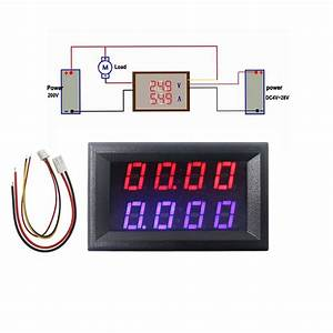 4 Bit Digital Voltmeter Ammeter Dc 200v 10a Red Blue Led