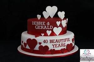 20 Romantic cake designs for wedding anniversary