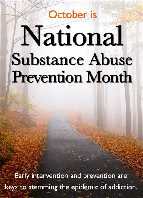 october  national substance abuse prevention month