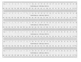 Printables Millimeter Rulers Actual Sizes