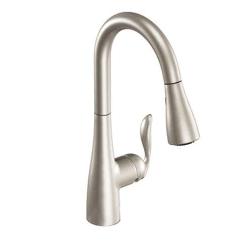moen one handle pullout kitchen faucet moen 7594srs arbor single handle pull kitchen