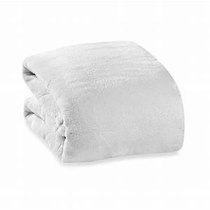 Buy Berkshire Blanket® Serasoft® Supreme Throw in Cream