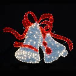 white red twinkling led rope lights twin bell christmas decoration