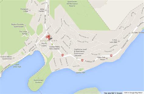 map  queenstown