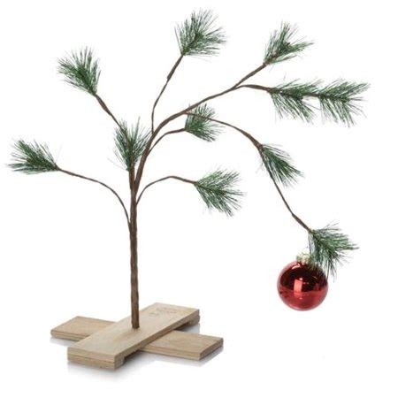 large charlie brown christmas tree product works peanuts 24 quot brown tree walmart