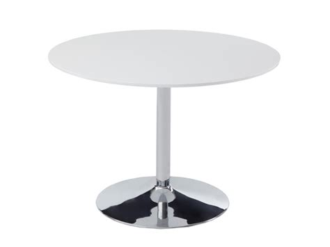 table ronde cuisine table ronde prunelle 4 couverts mdf chrome blanc