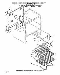 Parts For Whirlpool Rf315pxxn1  Unit  Optional Parts