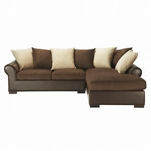 canape d39angle convertible 5 places en tissu marron With canapé d angle deux places convertible