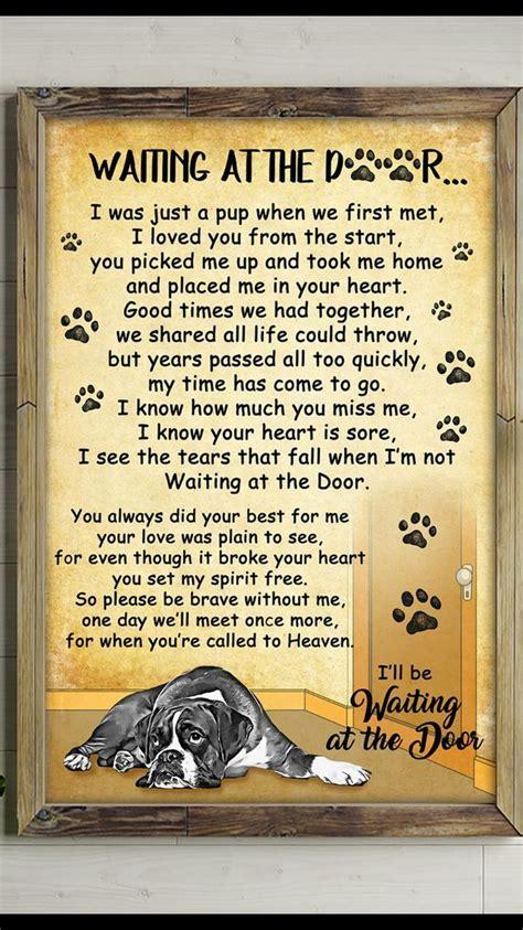 waiting   door google search dog poems pet