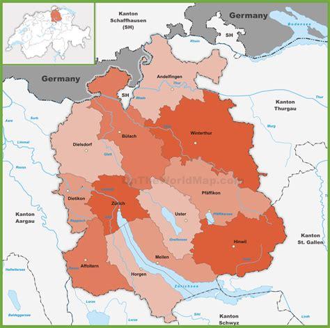 map  kanton zurich    print